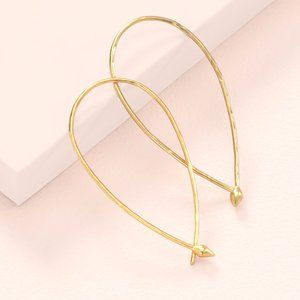 :: Stella & Dot [GOLD] Hammered Wire Small Hoops